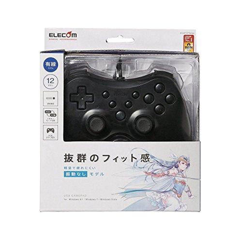 エレコム ゲームパッド 12ボタン 連射機能付 ブラック JC-U3712TBK