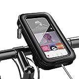 COOWOO 自転車 スマホホルダー バイク 防水 防塵 360度回転 オートバイ スマートフォン 防水バッグ に適用iphone android 多機種対応 厚さ調整パッド付き 脱着簡単 強力な保護