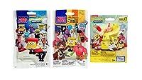 Mega Bloks SpongeBob SquarePants Series 1, Series 2 & Series 3 Action Mini Figure Blind Bag Mystery Packs (1 Pack of Each) [並行輸入品]