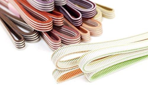 とせん 正絹 三分紐 帯締め 女性用 カラー 約136×1cm 4.こげ茶×グレージュ