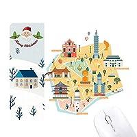 台北地図attrations eluanbi灯台 サンタクロース家屋ゴムのマウスパッド