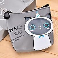 JIOLK コインケース 可愛い レディース 猫 小銭入れ ミニ財布 携帯用バッグ 小物収納 キー入れポーチ がま口 薄型 小さい財布 カード入れ ポーチ