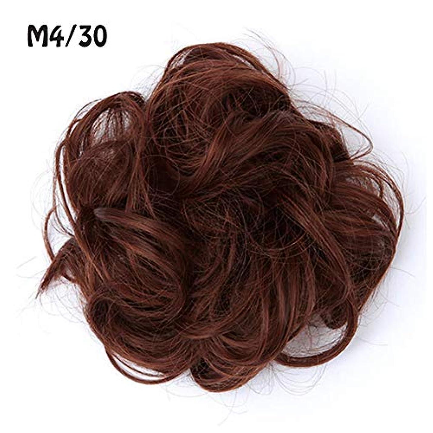 パラダイス中に自分のためにポニーテールシニョンドーナツアップリボンアクセサリー、乱雑な髪のお団子シュシュの拡張機能、女性のためのカーリー波状の作品