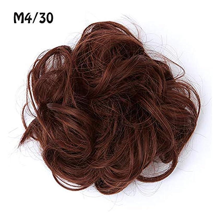 リベラルサドルビームポニーテールシニョンドーナツアップリボンアクセサリー、乱雑な髪のお団子シュシュの拡張機能、女性のためのカーリー波状の作品