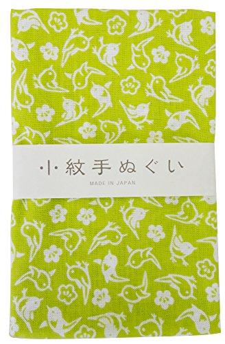 宮本 小紋手ぬぐい うぐいす 33×90cm 33460