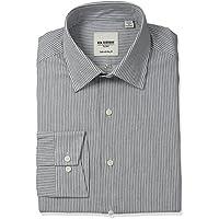Ben Sherman Mens 50-2924 Stripe Shirt with Florentine Spread Collar Spread Collar Dress Shirt - Gray