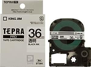 キングジム テープカートリッジ テプラPRO 36mm ST36K 透明