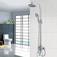 シャワーヘッド バスルームシャワー加圧トップスプレー銅蛇口ノズルシャワー蛇口スーツ FU man li