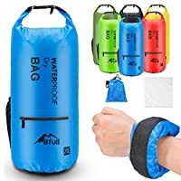 (10L, Blue) - BFULL Waterproof Dry Bag 10L/20L [Lightweight Compact] Roll Top Water Proof Backpack with 2 Exterior Zip Pocket for Kayaking, Boating, Duffle, Camping, Floating, Rafting, Fishing
