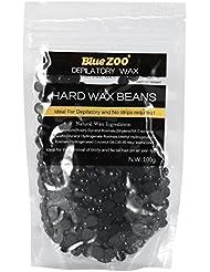 ワックス脱毛ワックスヒーター+ 4 x 100g異なるワックス豆+ 10個ワックススティックプロフェッショナルワックス脱毛セット(黒)