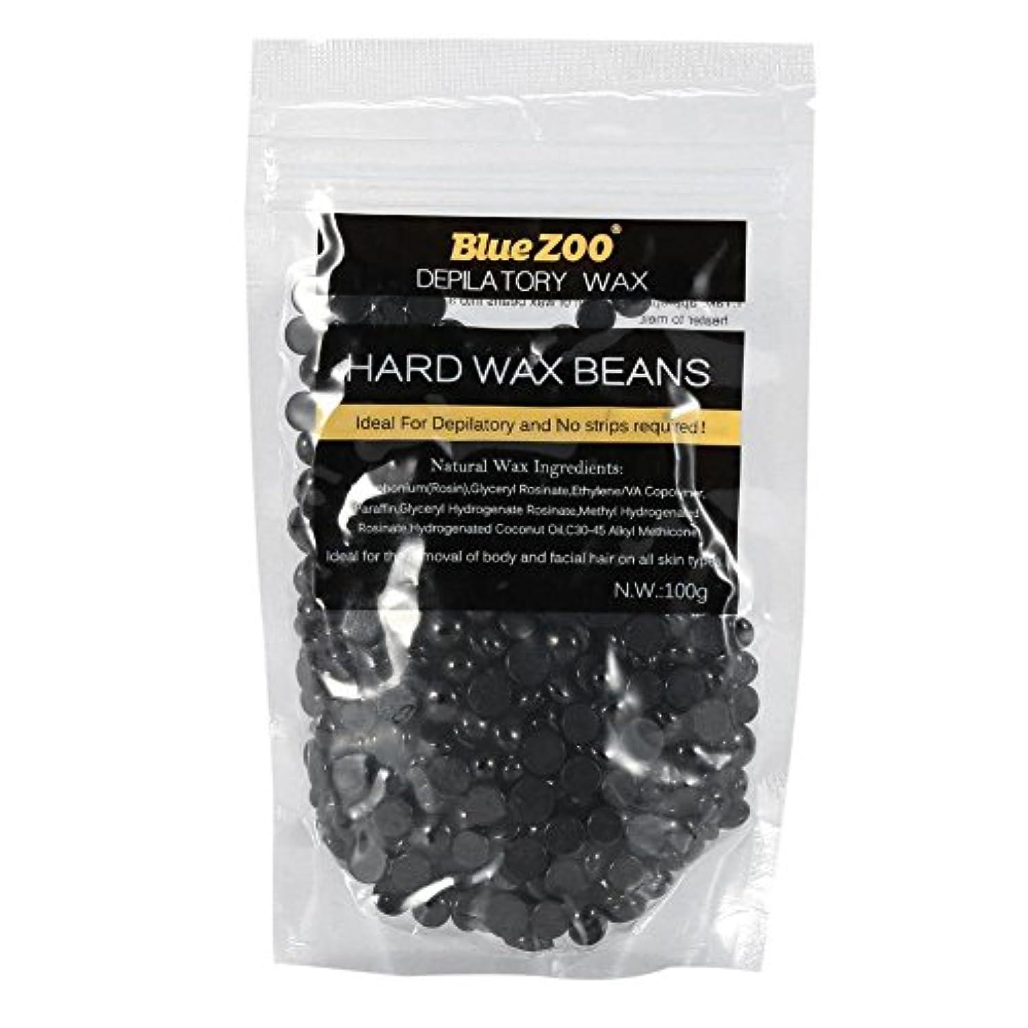 深く期待扱いやすいワックス脱毛ワックスヒーター+ 4 x 100g異なるワックス豆+ 10個ワックススティックプロフェッショナルワックス脱毛セット(黒)