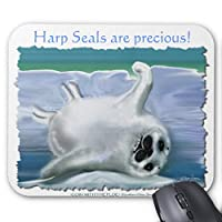 Zazzle Harp Seal赤ちゃんマウスパッド