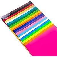 TECKWRAP 熱転写シート アイロンプリントシート ラバーシート Tシャツなどの衣類や織物、切れ地に使う 多色 純色 30cm×25cm×20枚