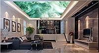 MzNmフォト壁紙3d天井壁紙壁画HD 3dファンタジークリエイティブクラウドスター天井壁画リビングルーム壁装飾 Gsavba -52439