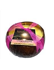 【正規輸入品】 バブルシャック?ハワイ Bubble shack Coconut Shell candle ココナッツシェルキャンドル lemongrass rosemary レモングラスローズマリー 500g