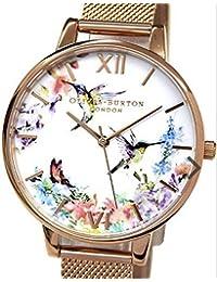 オリビアバートン OLIVIA BURTON 腕時計 OB16PP21 レディース メッシュメタルベルト [並行輸入品]
