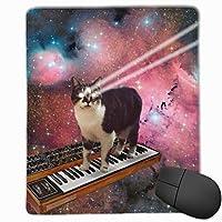 MYZIEOY マウスパッド 滑り良い 滑り止め 薄型 おしゃれ 3Dプリント 猫 宇宙柄 マウス パッド 耐摩耗性 PC ラップトップ オフィス用 光学式マウス対応 250*300 *3mm (抗菌性・静電特性に優れています)