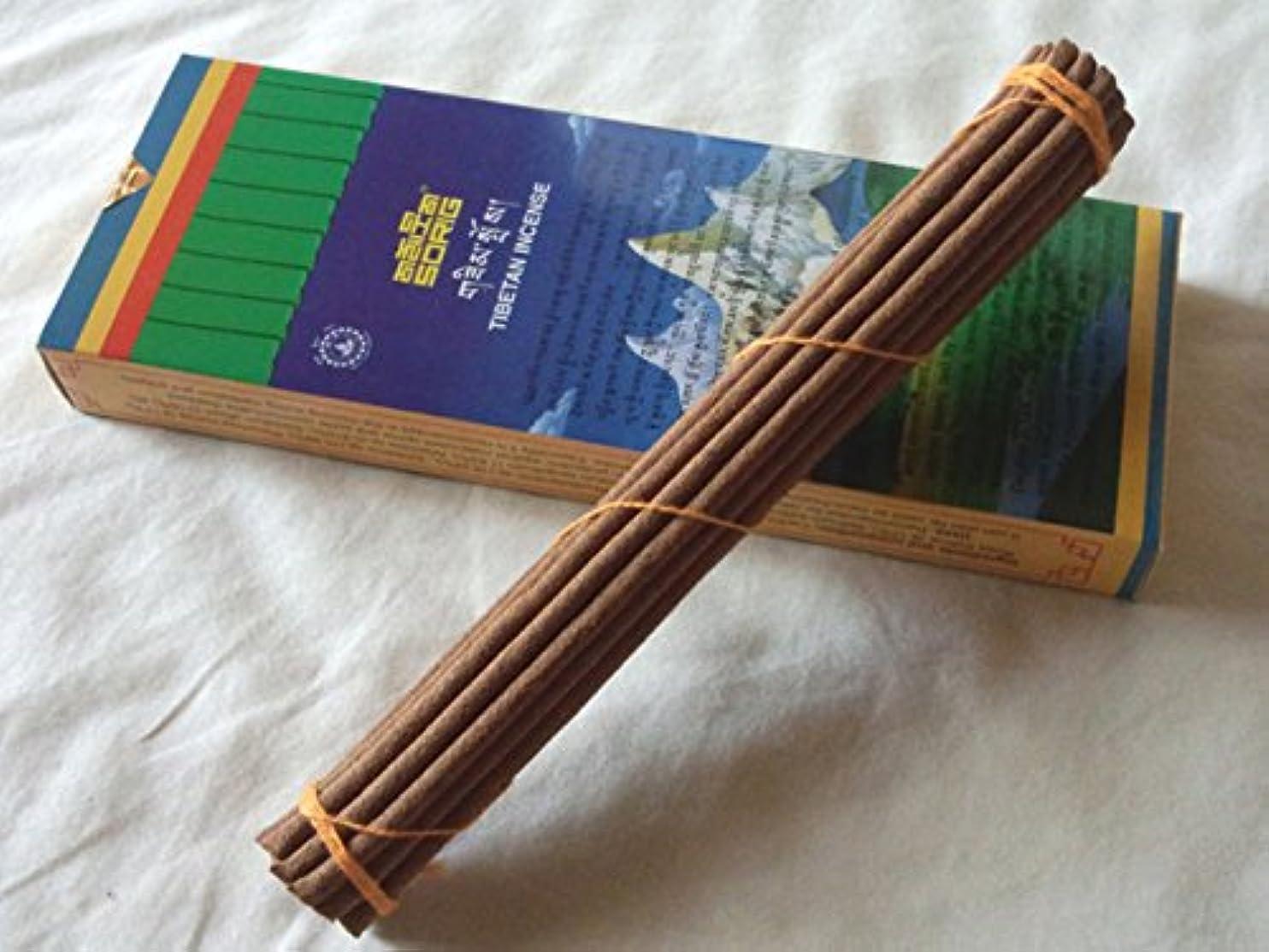 水平教え葉巻Men-Tsee-Khang/メンツィカンのお香-お徳用トリプル SORIG Tibetan Incense big 約20本入×3束