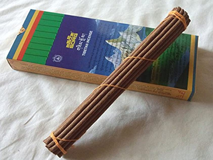 ポークメーター今日Men-Tsee-Khang/メンツィカンのお香-お徳用トリプル SORIG Tibetan Incense big 約20本入×3束
