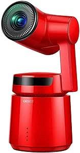 [国内正規品] OBSBOT Tail 自動追尾 AIカメラ 自撮りVlog 1850mAhバッテリー内蔵 アクションカメラ 4K 高画質 三軸ジンバル内蔵 60fps ジェスチャーで操作可能 充電電源アダプター付属 日本国内専用 (red)