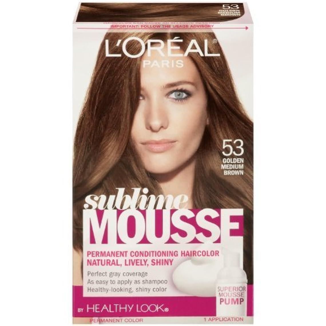 あいまいほうき拮抗L'Oreal Paris Sublime Mousse by Healthy Look Hair Color, 53 Golden Medium Brown by SUBLIME MOUSSE [並行輸入品]