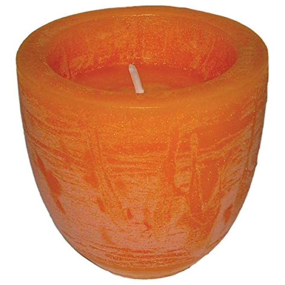 生息地雪の同性愛者laroom 11490 キャンドル オレンジ スモール ボウル オレンジ