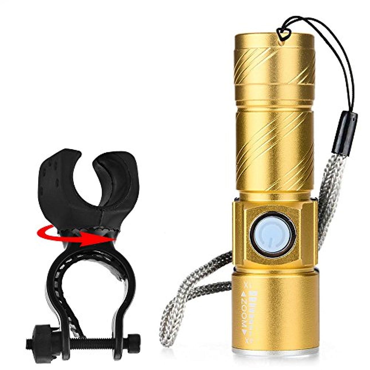 火山驚くばかり忌み嫌うRegoss (レジス) 懐中電灯 USB充電式 自転車懐中電灯1 XPG-R5 LED プロフェッショナル LED 自転車防水 +ホルダー 3モード アルミニウム合金 耐久性 ミニUSB充電、強い光 特徴COBは、 高輝度 省エネルギー 軽量で、使いやすく持ち運びが簡単です ストレート プラスチック 狩猟、サイクリング、登山、キャンプ、旅行、野外活動