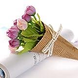 Demiawaking 造花 花束 結婚式の装飾 欧風 花嫁 インテリア飾り 写真撮影小道具 ビューティー (02)