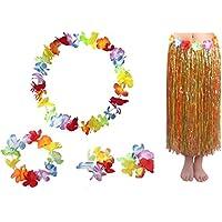 アダルトハワイアン多色80 CMグラススカートセットパーティー好き