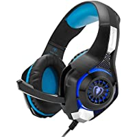 Beexcellent GM1 ゲーミング ヘッドセット マイク、音量調節機能付き、高音質 ステレオ ヘッドホン (PS4 Xbox One パソコン スマホ など対応) FPS CODゲームに 1年間保障付