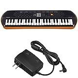 【ACアダプター+ヘッドホン付】カシオ 電子ミニキーボード 44ミニ鍵盤 SA-76 ブラック&オレンジ