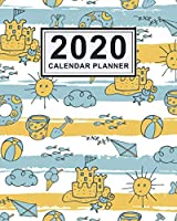 2020 Calendar Planner: Beach Daily Weekly Monthly Calendar 2020 Planner  | January 2020 to December 2020