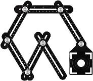 Upgrade Multi Angle Ruler, Aluminum Alloy Angle Measuring Rule,Universal Opening Locator Measurement Tool, 6-S
