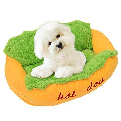 Ninkipet(ニンキペット)快適で暖かいペット用マット ペットベッド かわいいホットドッグ 犬 ベッド 秋冬用ソファベッド ふわふわ 小犬 猫用クッション ペット用品 小犬 hot dog