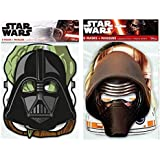 Star Wars Birthday Party Masks in 2 Styles, 16 total Party Favor Masks