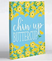 "Chin Up Buttercupキャンバス壁アート印刷10 "" x 8 "" byペン&ペイントMade in the U。S。A。"