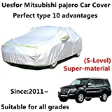 AUNAZZ Car Full Body Covers For Mitsubishi Pajero Cover Since 2011 Years Automobile Cover Auto Care Waterproof Snow Cover All Weather Protect from Moisture Snow Frost Corrosion Dust Outdoor UV Protection