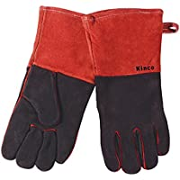 Kinco Gloves Cowhide Leather Welding/Fireplace Gloves 7900-L