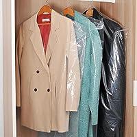 透明な PP プラスチック衣類 収納 カバー L 40枚組 [ コート ・ ワンピース サイズ ]   通気性の良い 湿気・ホコリ・汚れ防止 (40枚)