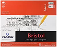 Canson Foundation Series Foundation Series Vellum Bristol, 14 x 17 Inches (C702-4607) by Canson