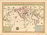1925Map of Adventures for Boys and Girls :ストーリー、Trails、Voyages、Discoveries、Explorations & PL