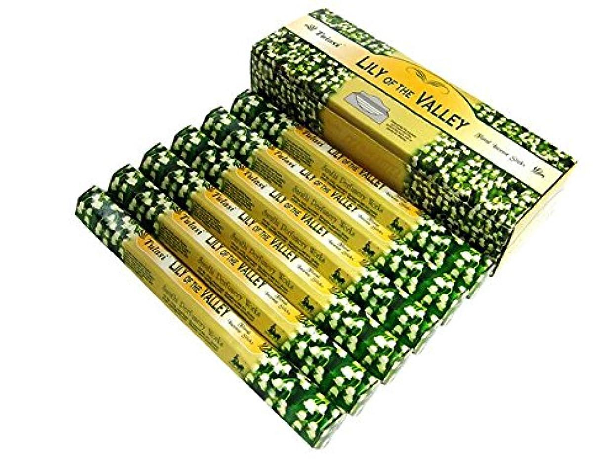 怒り大胆な受粉者TULASI(トゥラシ) リリーオブザバレー香 スティック LILI OF THE VALLEY 6箱セット