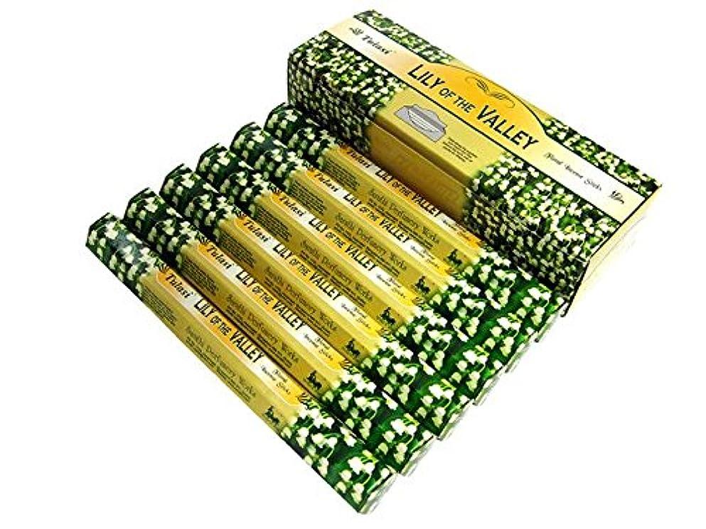 居心地の良いお勧め返還TULASI(トゥラシ) リリーオブザバレー香 スティック LILI OF THE VALLEY 6箱セット