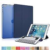 MS factory iPad mini4 スマート カバー バック ケース 一体型 オートスリープ mini 4 スタンド ケースカバー 全11色 ダーク ネイビー 青 IPDM4-SMART-NV