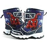 [スパイダーマン] Spider-Man マーベル ヒーロー ボーイズ ライトアップ ブルー レッド スノー ブーツ キッズ 男の子 ピカピカ 光る靴 [並行輸入品]