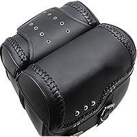 バイク用 アメリカン サイドバッグ 大容量収納 高級品 ツールバッグ 旅行 ツーリング レザーバッグ 防水  革 2個セット R