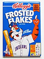 Cleveland Indians Cerealボックス冷蔵庫マグネット( 2 x 3インチ)