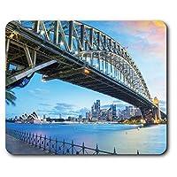 快適なマウスマット - シドニーブリッジオペラハウスオーストラリア旅行コンピュータ&ノートパソコン、オフィス、ギフト、ノンスリップベースのため23.5 X 19.6センチメートル(9.3 X 7.7インチ) - RM24283