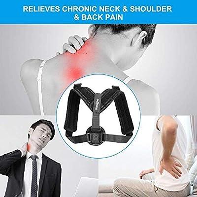 Back Posture Corrector for Women & Men,Tomight Adjustable Back Brace for Improving Posture-Clavicle Support for Slouching & Hunching-Upper Back/Relief Neck Shoulder Pain