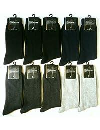 メンズ 靴下 綿混 メンズ リブ ソックス 10足セット ビジネス カジュアル アウトドア スポーツ